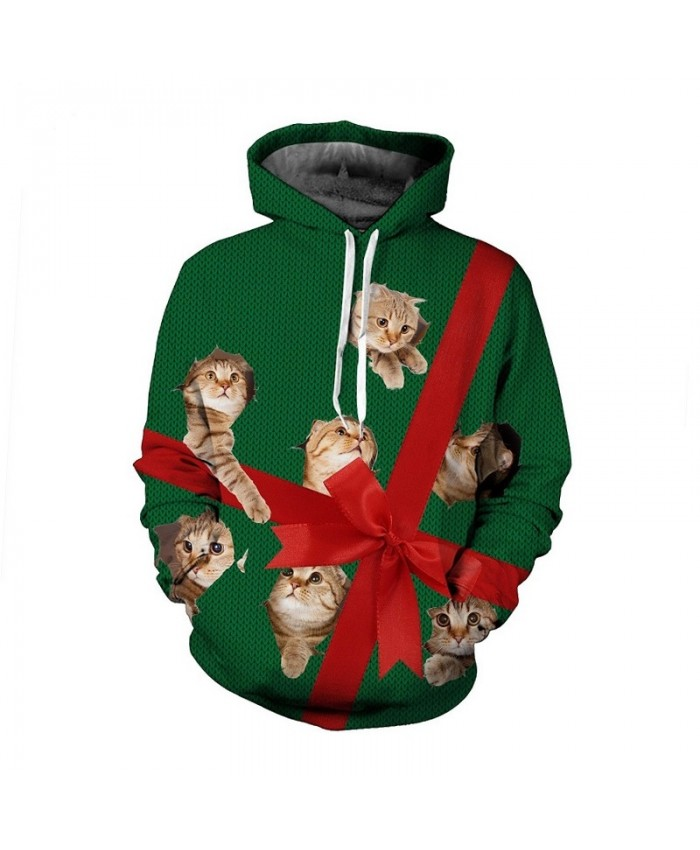 Cat Gift Hoodies 3d Print Christmas Sweatshirt Men Women Plus Size Pullover Tracksuit Autumn Winter Thin Streetwear