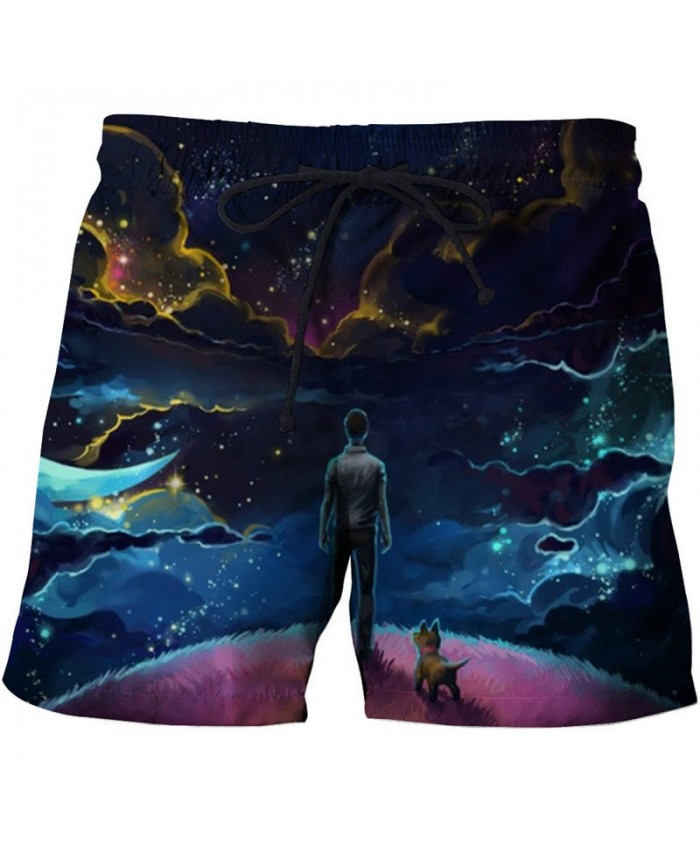 Cat Looking At People 3D Printed Men Board Short Male Quick Drying Breathable Beach Short Summer Male Clothing Short