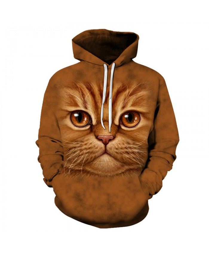 Cat Printed Hoodies Sweatshirts Men Women Tracksuit 3D Pullover Streetwear Hoody Hooded Coat Pocket Hoodie Drop Ship