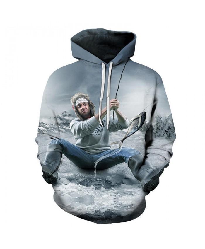 Caught Fish 3D Printed Men Pullover Sweatshirt Clothing for Men Custom Pullover Hoodie 2019 Streetwear Sweatshirt