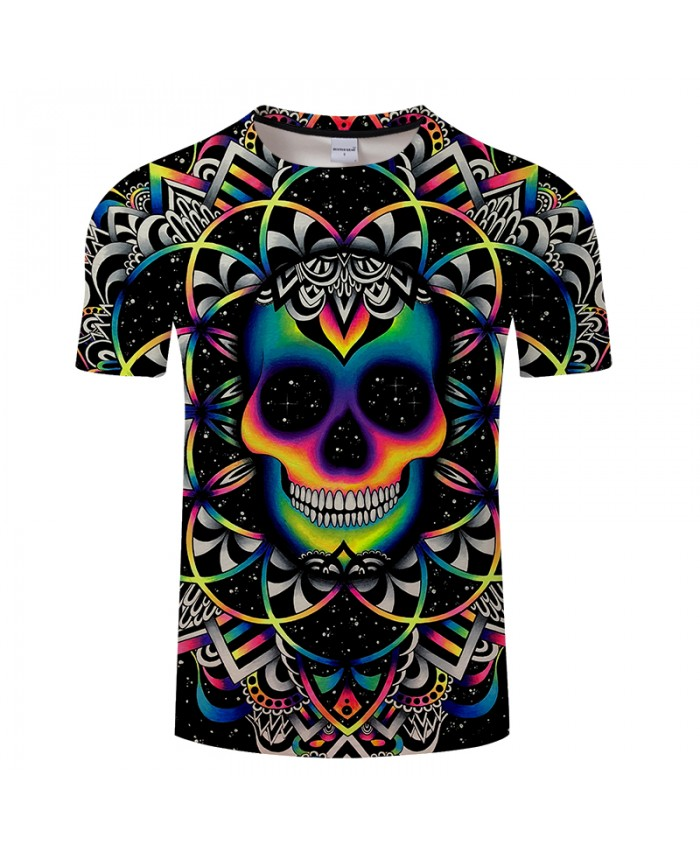 Chaos By Art 3D Print T shirt Men Women Skull T-shirts Tshirts Tops Fashion Sleeve Summer Tops Tees Tshirt