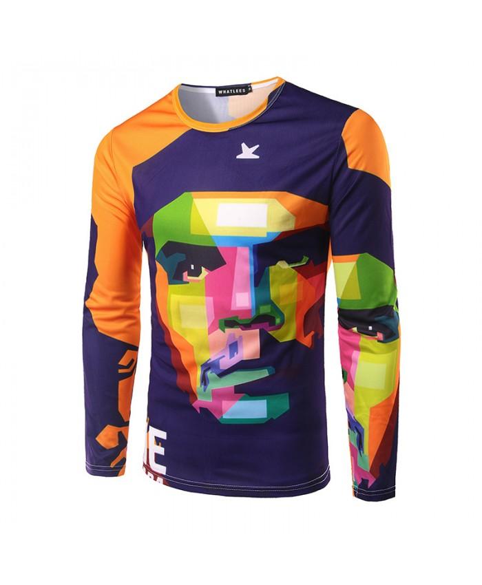 Che Guevara Tshirts Men Long Sleeve T-shirts 2018 3D Printed Camisetas Round Neck Tops Spring Tees Hero