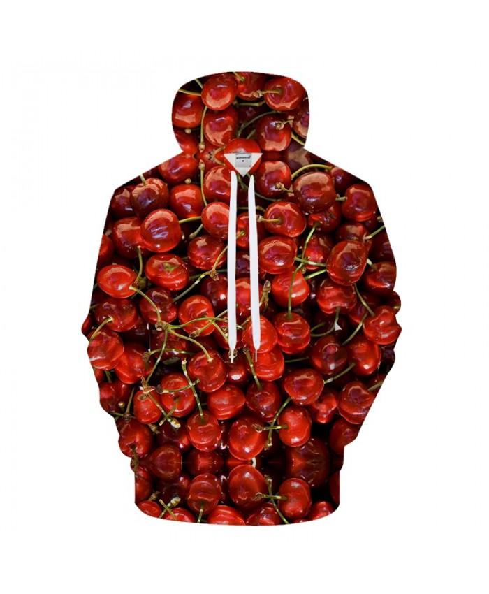 Cherry Print Hoodies 3D hoodie Men Women Hoody Quality Sweatshirt Streatwear Tracksuit 6XL Casual Hoodie Pullover Coat Dropship
