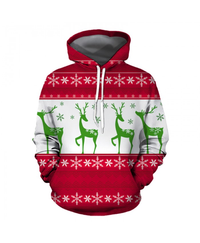 Christmas Deer Dancing Christmas Hoodies 3D Sweatshirts Men Women Hoodie Print Couple Tracksuit Hooded Hoody Clothing