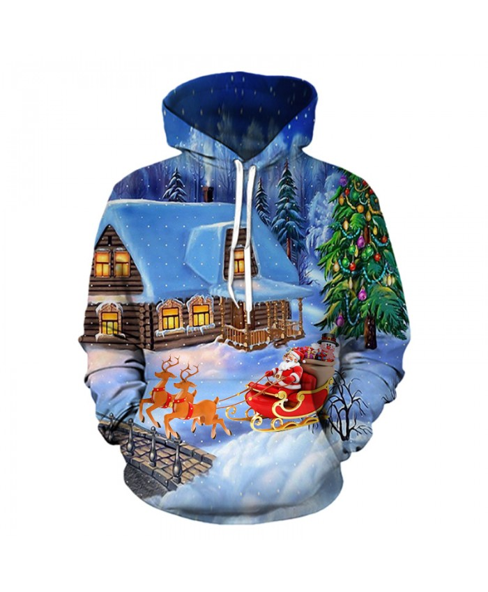 Christmas Eve presents gifts Christmas Hoodies 3D Sweatshirts Men Women Hoodie Print Couple Tracksuit Hooded Hoody Clothing