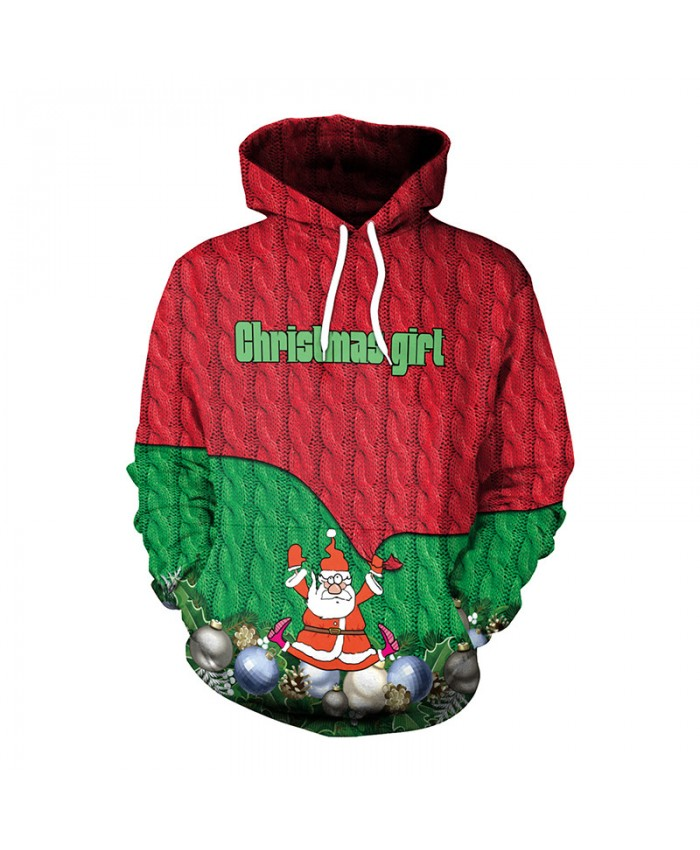 Christmas Girl Wreath Christmas Sweater Unisex Men Women Vacation Santa Elf Pullover Funny Sweaters Tops Autumn Winter Clothing