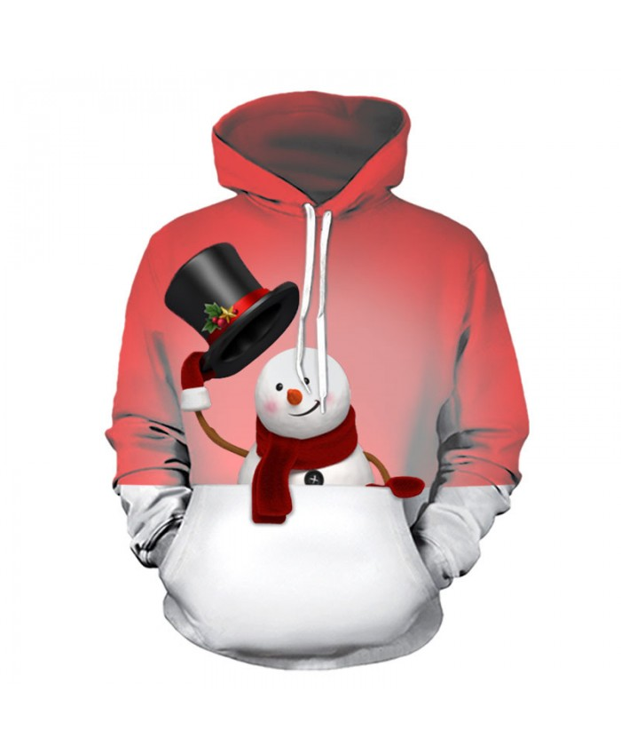 Christmas Snowman Christmas Hoodies 3D Sweatshirts Men Women Hoodie Print Couple Tracksuit Hooded Hoody Clothing