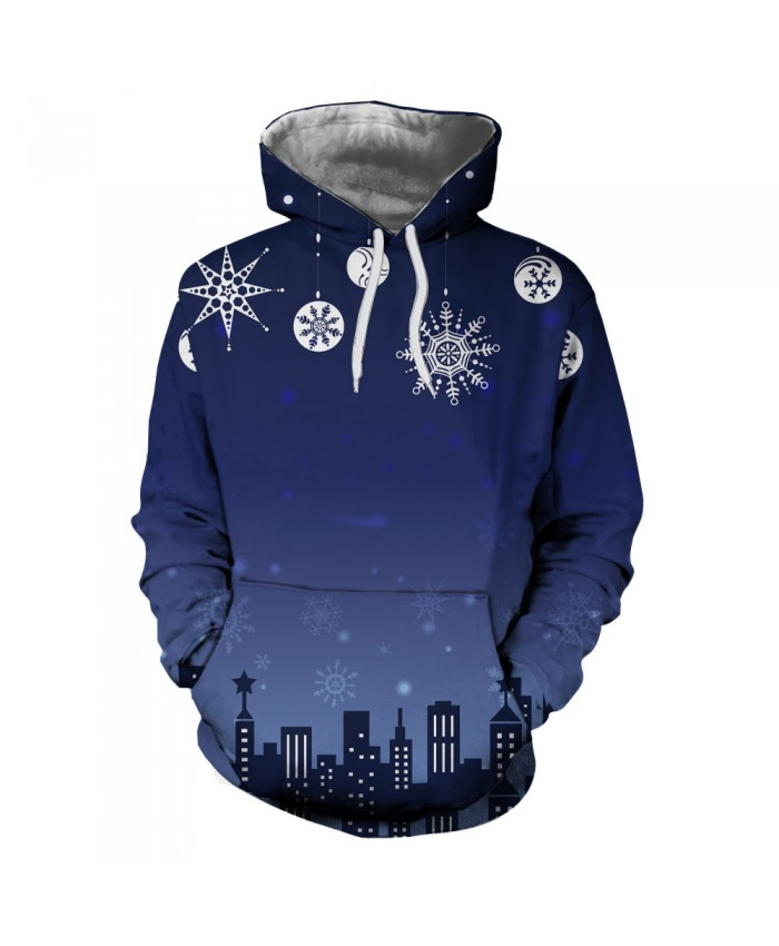 Christmas snowflake at night Hoodies 3D Sweatshirts Men Women Hoodie Print Couple Tracksuit Hooded Hoody Clothing