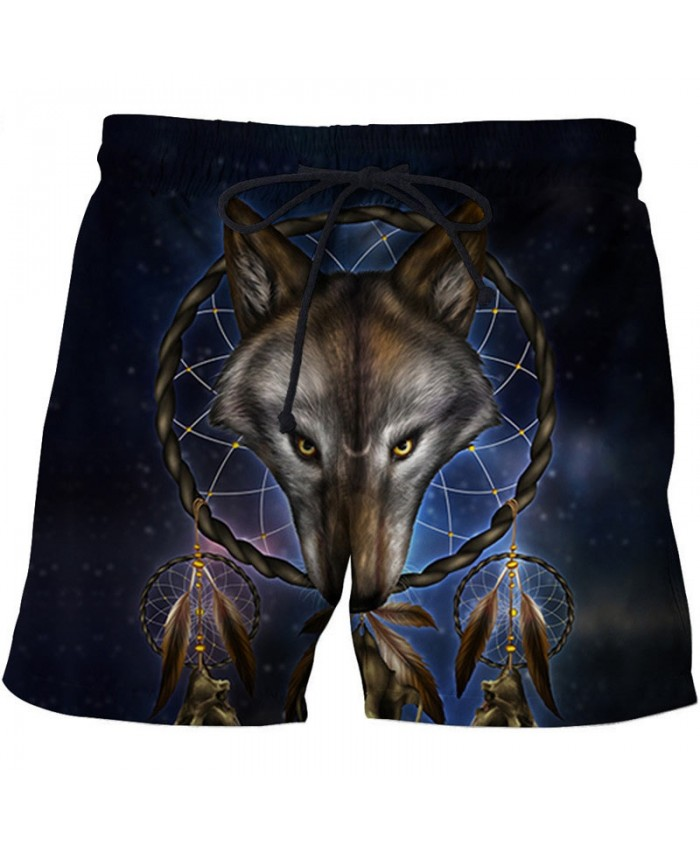 Circled Fox 3D Print By Khalia Artist Men Beach Short Casual Cool Men Stone Print Beach Shorts Summer Male Beachwear