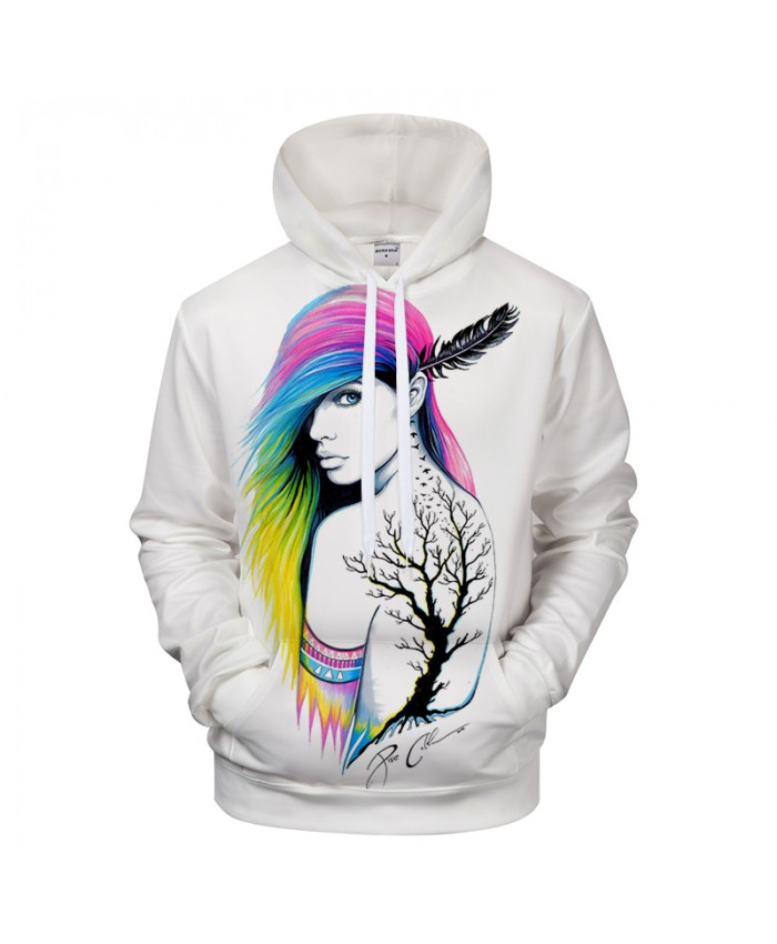 City Indian by Pixie cold Art Girl Printed 3D Hoodies Sweatshirts Men Casual Tracksuits Novelty Streetwear Hoodie
