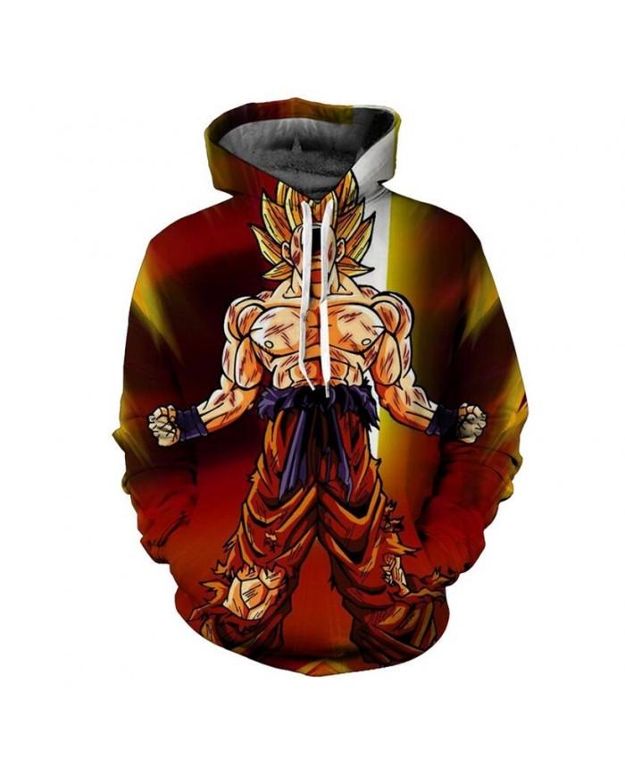 Classic Anime Dragon Ball Z Super Saiyan Hooded Sweatshirt Vintage Lightning Goku Printed Unisex Cool Hoodies