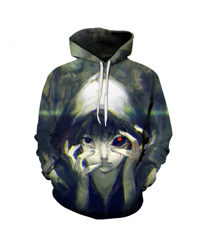 Classic Anime Tokyo Ghoul 3D Hoodies Sweatshirts Men Women Halloween Costumes Tops Casual Tracksuits Fashion Boy Comic Coats