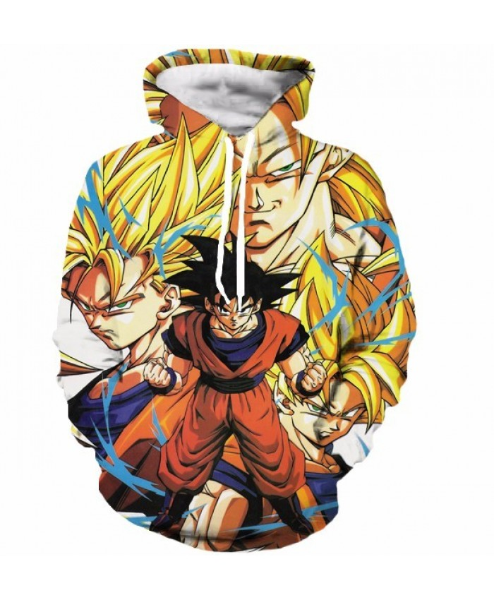Classic Dragon Ball Super Saiyan Hooded Sweatshirts Men Women Anime Hoodie Sweatshirt Goku/Vegeta Print 3D Hoodies S-5XL