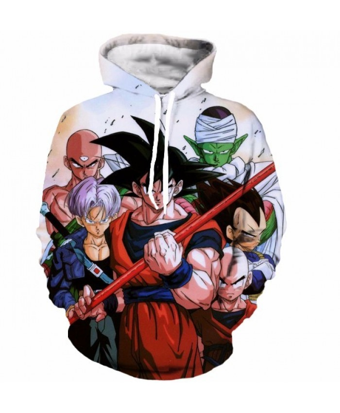 Classic Dragon Ball Super Saiyan Hooded Sweatshirts Men Women Anime Hoodie Sweatshirt Goku/Vegeta Print 3D Hoodies S-5XL C