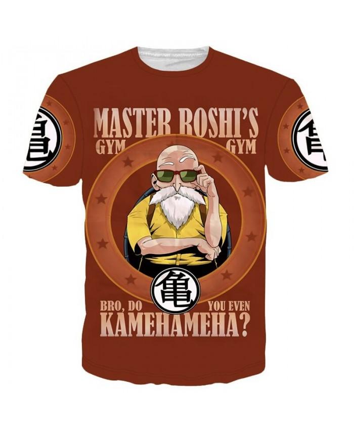 Classic Dragon Ball Z Super Saiyan 3D t shirt Funny Master Roshi Wanted t shirts Street tshirts Women Men Summer Casual tees top