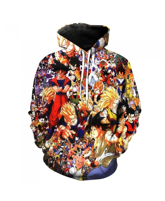 Classic Team Of Dragon Ball 3D Hoodies Goku/Vegeta/Piccolo Print Hooded Sweatshirt Men Women Hoodie Pullover