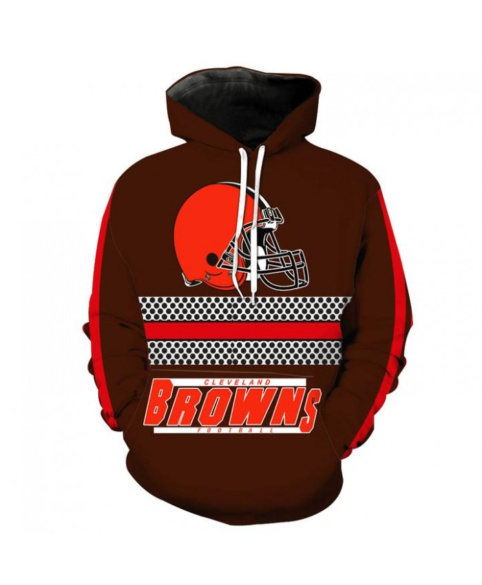 Cleveland Browns 3D Hoodie Pullover NFL Football Hoodies Hooded Sweatshirt Autumn Men Women Casual Pullover Sportswear