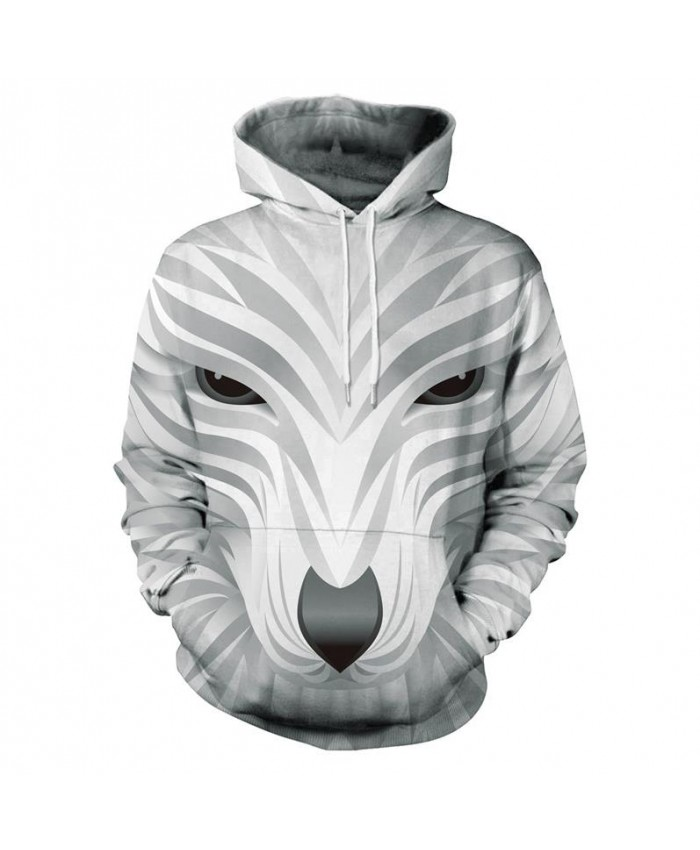 Clothing Men's Hooded 3D Wolf Hoodies Men 3D Sweatshirts High Quality Pullover Novelty Male Slim Hooded Tops Coat Hand Painted