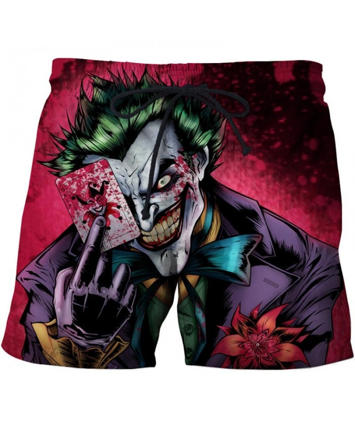 Clown 3D Print Men Shorts Casual Cool Elastic Waist 2019 New Men Stone Printed Beach Shorts Male Fitness Shorts
