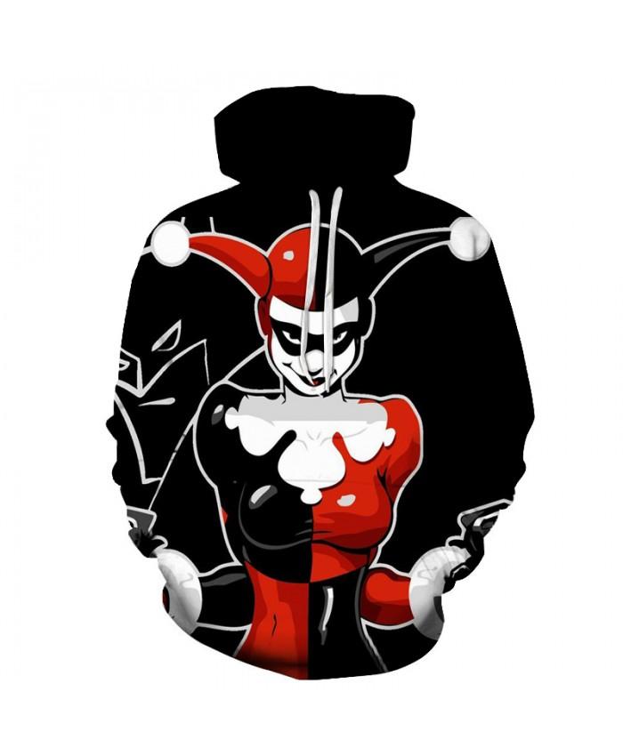 Clown 3D Sweatshirts Men/Women Hoodies With Hat Print Fashion Autumn Winter Loose Thin Hooded Hoody Tops