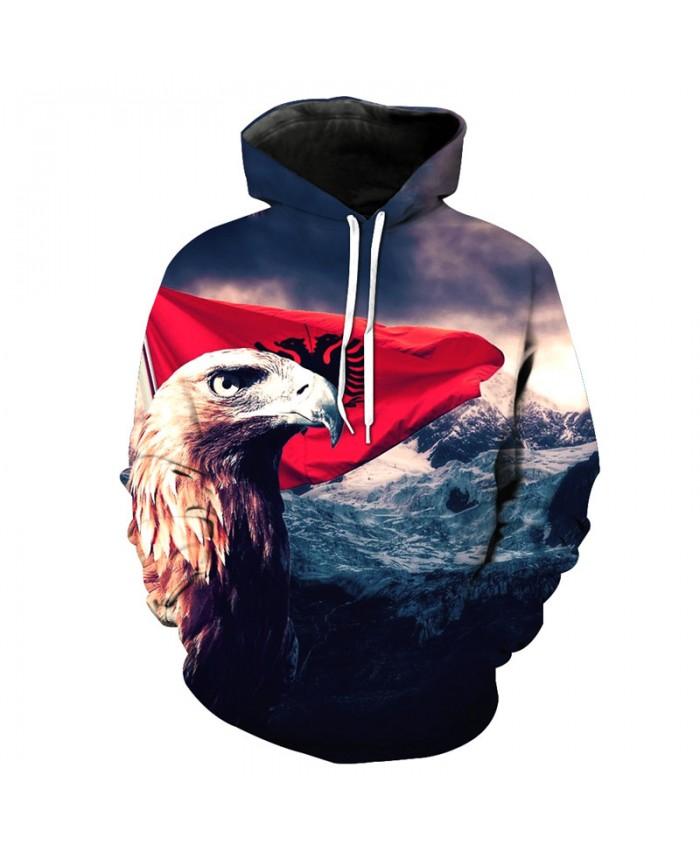 Coastline Banner Eagle Hoodies Casual Pullover Casual Hoodie Autumn Tracksuit Pullover Hooded Sweatshirt