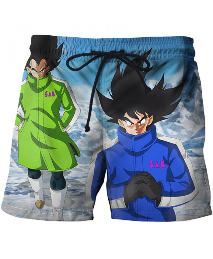 Cold Winter Dragon Ball Men Anime 3D Printed Beach Short Casual Summer Male Quick Drying Breathable Board Short