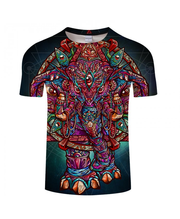 Color Elephant By Arts 3D Print T shirt Men Women Cartoon ShortSleeve Boy Summer Top&Tee Fashion Tshirt DropShip