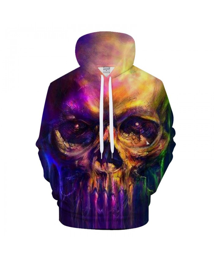 Color Skull 3D Hoodie Men Hoody Casual Sweatshirt Printed BrandTracksuit Pullover Groot Coat Streatwear DropShip