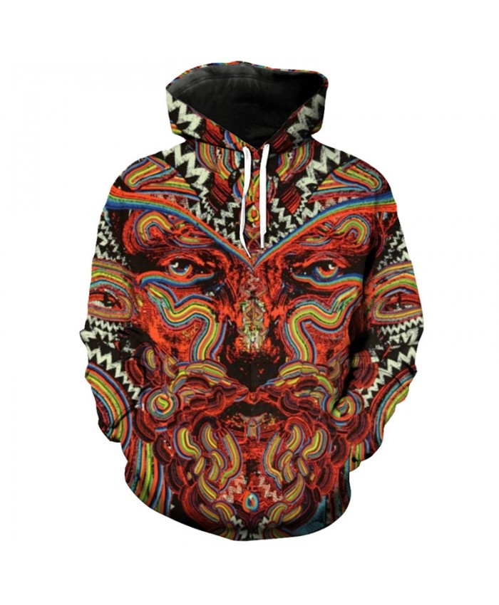 Color Tree Men Women Print 3D Hooded Pullover Sweatshirt