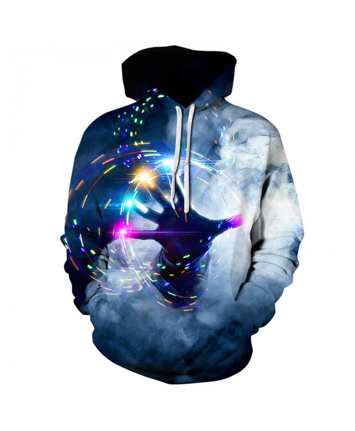 Colorful Finger Gyro Cool streetwear latest fashion couple hooded pullover casual sweatshirt