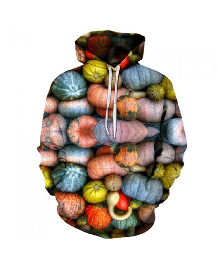 Colorful Pumpkins Hoodie Sweatshirts 3D Prints Hot Hoody Tracksuit Mens 2019 Clothing Hoodies Streetwear Drop Ship