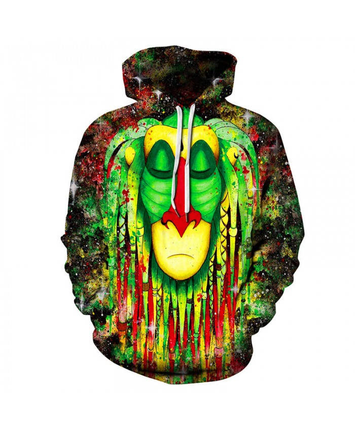 Colorful starry sky Indian wizard 3D hooded sweatshirt pullover