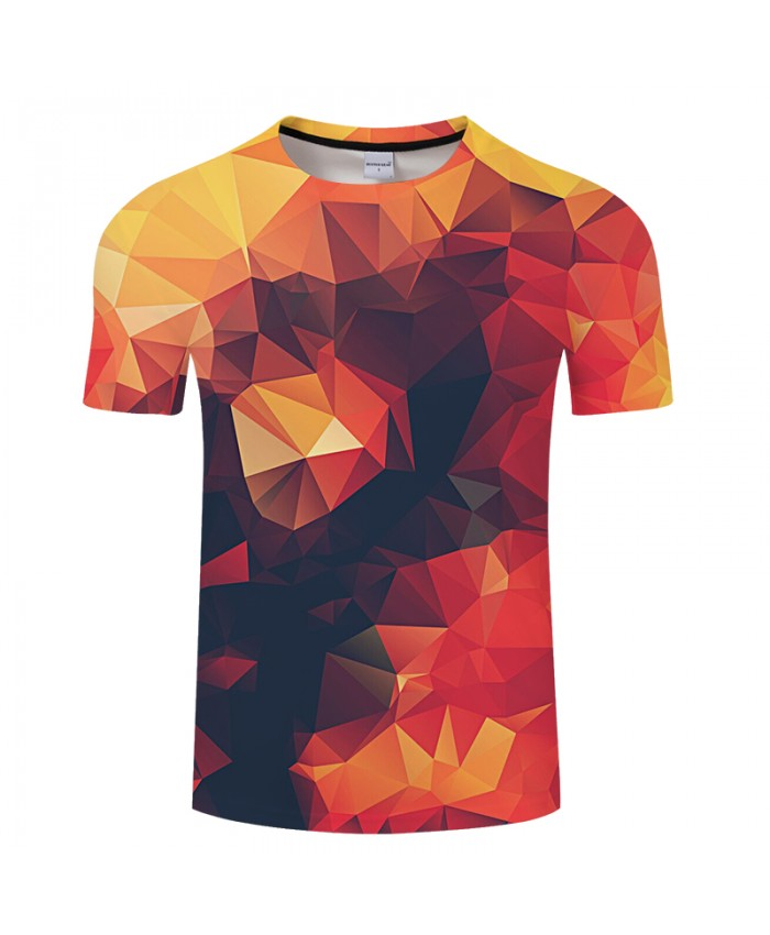 Coloured Three-dimensional Background Print 3D T shirt Men Women tshirt Summer Short Sleeve Tops&Tees 2018 Drop Ship