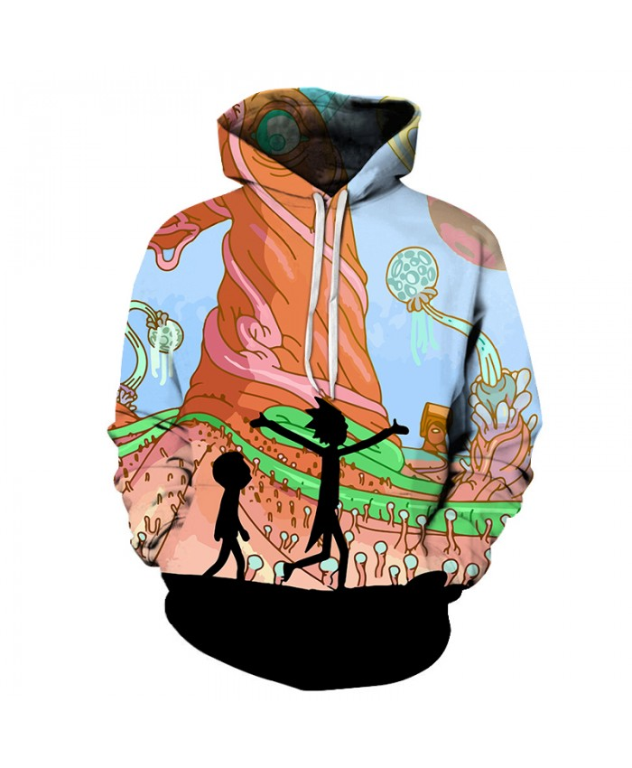 Comic Hoodies Ricky And Morty Hoodies Men Women Anime Sweatshirts Fashion Winter Spring 3D Pullover Brand Tracksuits
