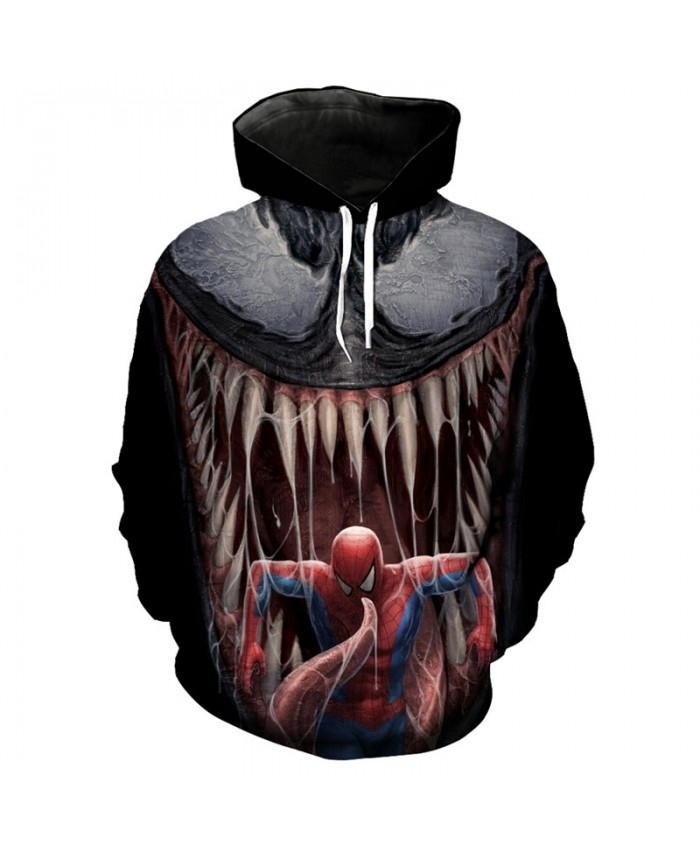 Cool 3D Hoodie Variation Venom Spider Man Print Fashion Sweatshirt Pullover