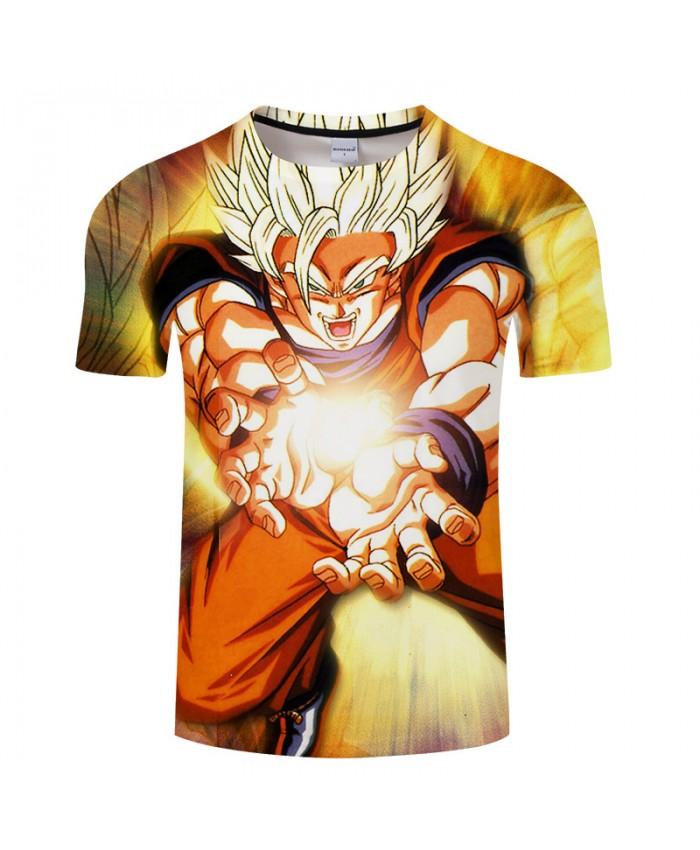 Cool Cartoon 3D Print T shirt Men Women Summer Casual Streetwear Saiyan Tops&Tee Dragon Ball Tshirts Short Drop Ship