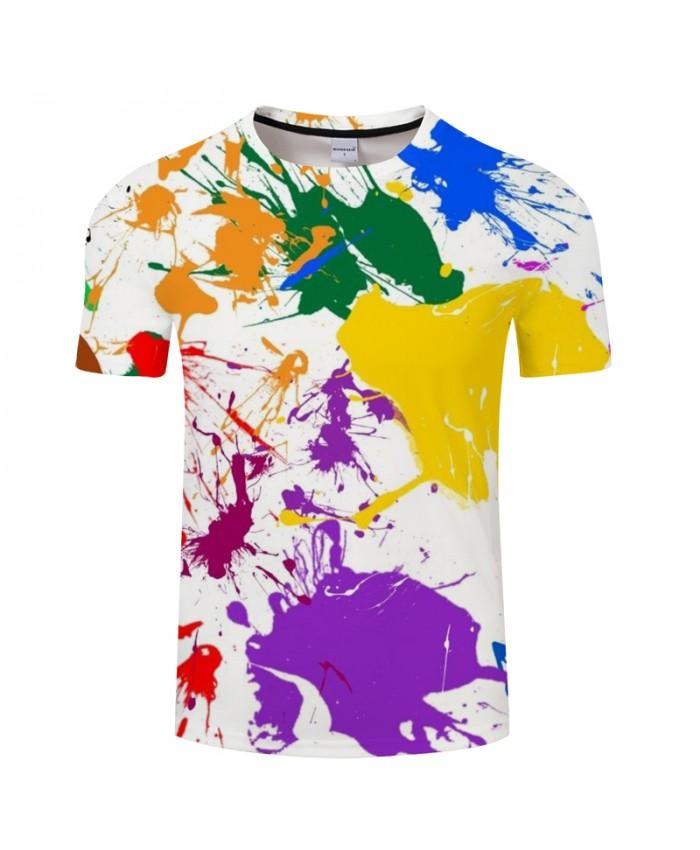 Colorful Ink 3D Print t shirt Men Women tshirts Summer Funny Art Short Sleeve O-neck Tops&Tees Hot 2019 Drop Ship