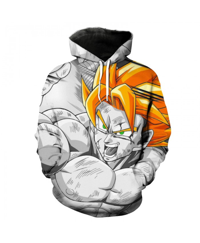 Cool Dragon Ball Hooded Sweatshirt Fashion Men Women Pullover Sportwear