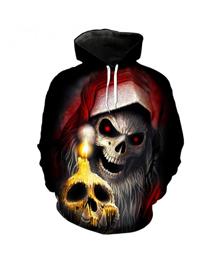 Cool Horror Skull Print Fashion Hooded Pullover Street Hip hop Sportswear Sweatshirt Tracksuit Pullover Hooded Sweatshirt