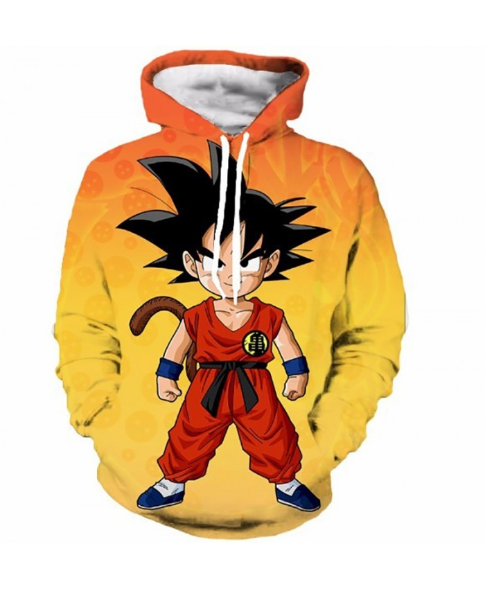 Cool Kid Goku 3D Hoodies Dragon Ball Z Super Saiyan vogue Hooded Sweatshirt Men Women Anime Sweatshirt Hoodie Pullover