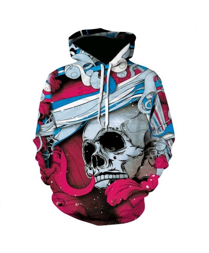 Cool Paint Skull 3D Printed Art Hoodies Men Women Sweatshirts Hooded Pullover Brand Qaulity Tracksuits Boy Coats Fashion Outwear