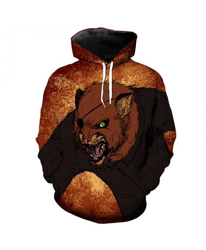 Cool Robber Cat Print Fashion Men's Hooded Sweatshirt Casual Hoodie Autumn Tracksuit Pullover Hooded Sweatshirt