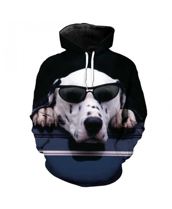 Cool Sunglasses Dalmatian Funny Hoodie Sweatshirt Dog Style Sportswear