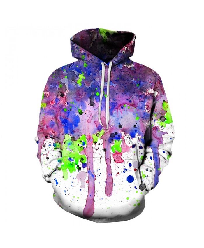 Cool Watercolor Art Unisex Hoodie 3D Print Sweatshirts Pullover Harajuku Mens Hoody Streetwear Coat for Autumn