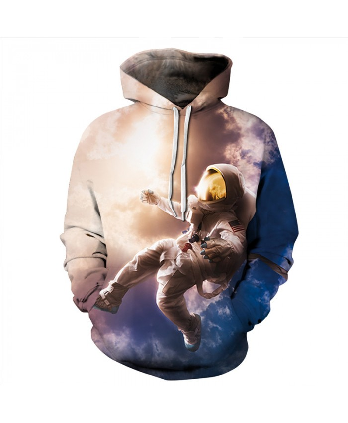 Cosmic Dance Astronauts Casual Hooded Sweatshirts
