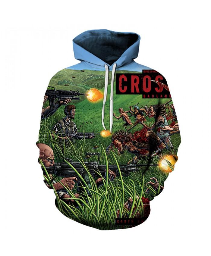 Cross Badland 3D Hoodies Men Hoody Harajuku Hoodie Streatwear Sweatshirt Tracksuit Pullover Jacket Hip Hop Dropship