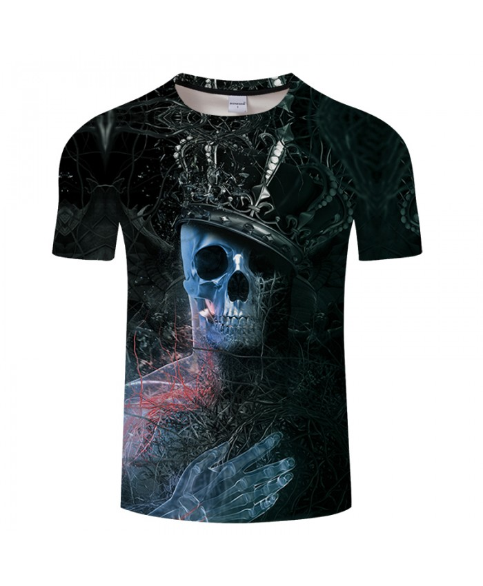 Crown 3D T shirt Men Skull t-shirt Groot tshirt Summer Tees Funny Tops Streatwear Camiseta Short Sleeve Male DropShip