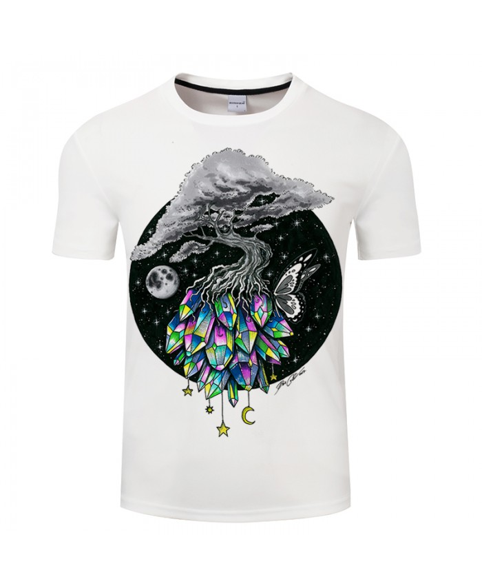 Crystal tree By Pixie coldArt 3D Print T shirt Men Women Summer Casual Short Sleeve Boy Tops&Tees Tshirt Unisex DropShip