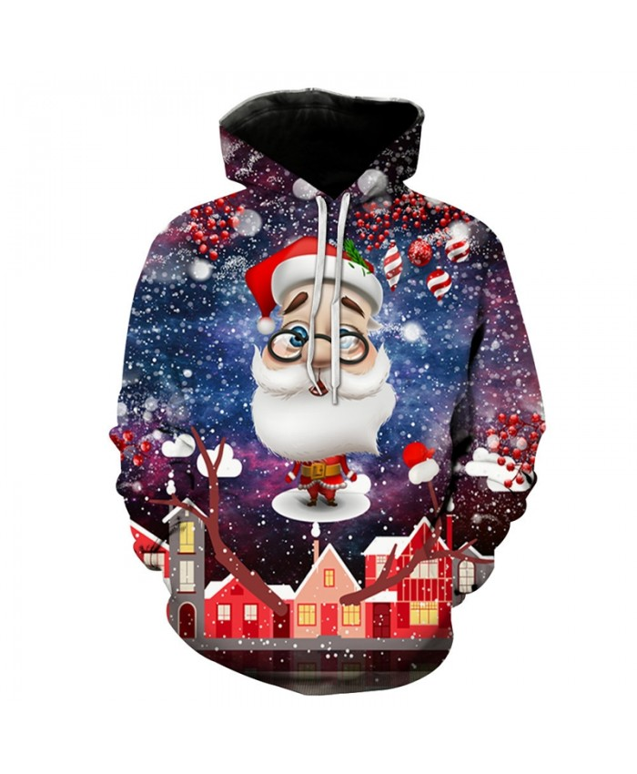 Cute Christmas Santa Claus Print 3D Hoodies Men Women Sweatshirts Unisex Streetwear Tracksuits Hip Hop Loose Casual Hoody Tops