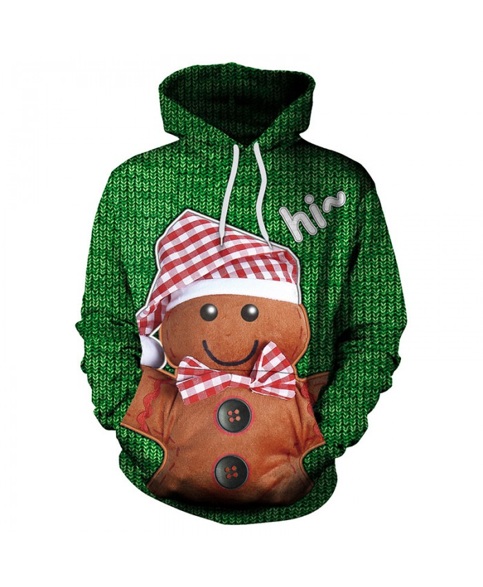 Cute Doll Christmas Sweater Unisex Men Women Vacation Santa Elf Pullover Funny Sweaters Tops Autumn Winter Clothing